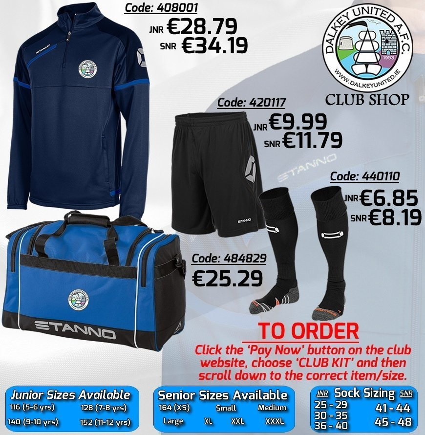 Dalkey United Club Shop 2017/18